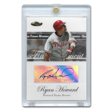 Ryan Howard Autographed Card 2007 Topps Finest Moments # RFMA-RH