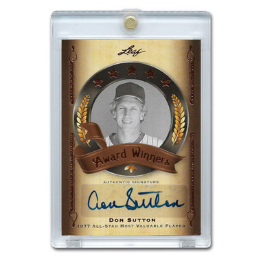 Don Sutton Autographed Card 2012 Leaf Baseball's Best Award Winners Ltd Ed of 40