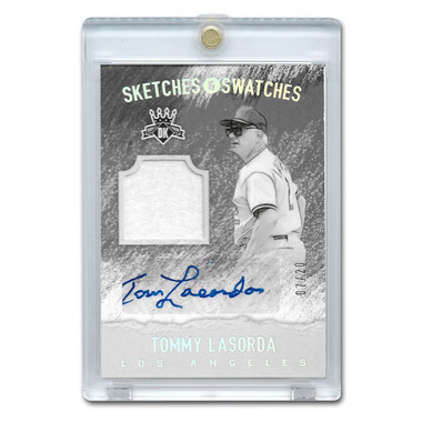 Tommy Lasorda Autographed Card 2017 Donruss Diamond Kings Sketches & Swatches Ltd Ed of 20