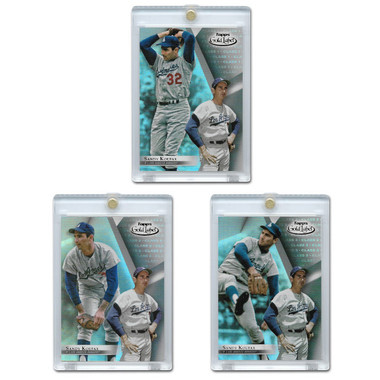 Sandy Koufax 2018 Topps Gold Label Set of 3 Cards