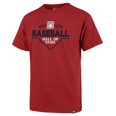 Boy's '47 Brand Baseball Hall of Fame Logo Red Home Plate T-Shirt