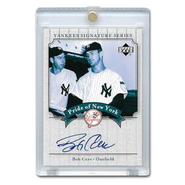Bob Cerv Autographed Card 2003 Upper Deck Yankees Signature Series #PN-BC
