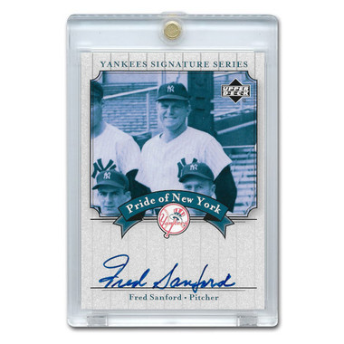 Fred Sanford Autographed Card 2003 Upper Deck Yankees Signature Series #PN-FS