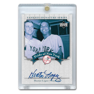 Hector Lopez Autographed Card 2003 Upper Deck Yankees Signature Series #PN-HL