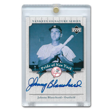 Johnny Blanchard Autographed Card 2003 Upper Deck Yankees Signature Series #PN-JB
