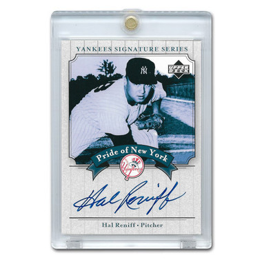 Hal Reniff Autographed Card 2003 Upper Deck Yankees Signature Series #PN-HR