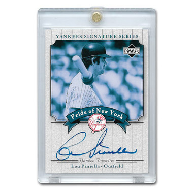 Lou Piniella Autographed Card 2003 Upper Deck Yankees Signature Series #PN-LP