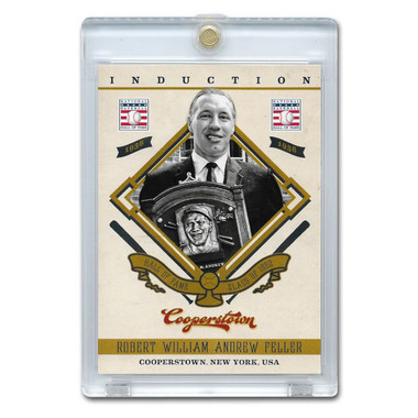 Bob Feller 2012 Panini Cooperstown Induction Card # 19