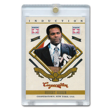 Bob Gibson 2012 Panini Cooperstown Induction Card # 24