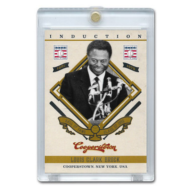 Lou Brock 2012 Panini Cooperstown Induction Card # 20