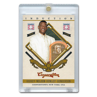 Rickey Henderson 2012 Panini Cooperstown Induction Card # 3