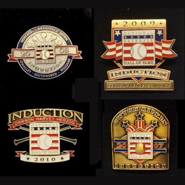 Set of 4 Hall of Fame Induction Limited Edition Press Pins - 2007 to 2010