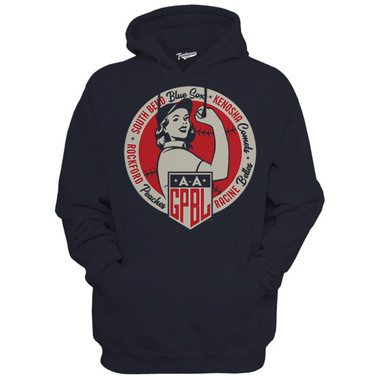 Unisex Teambrown AAGPBL Original 4 Navy Diamond Hooded Sweatshirt