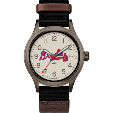 Timex Men's Atlanta Braves Clutch Watch