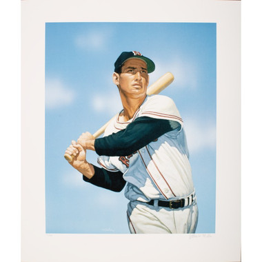 Ted Williams Arthur Miller Signed Fine Art 17 x 20 Litho Ltd Ed of 150