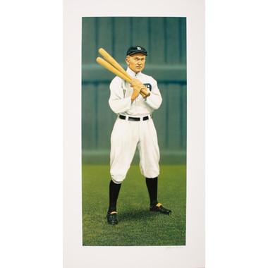 Ty Cobb Arthur Miller Signed Fine Art 14  x 26 Litho Ltd Ed of 150