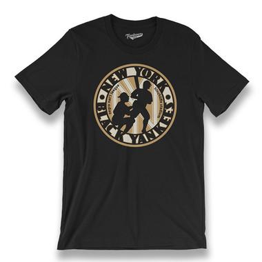 Men's Teambrown New York Black Yankees T-Shirt
