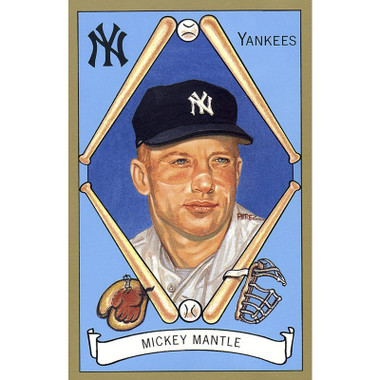 Mickey Mantle Perez-Steele Masterworks Limited Edition Postcard # 9