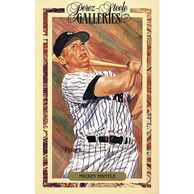 Mickey Mantle Perez-Steele Masterworks Limited Edition Postcard # 10