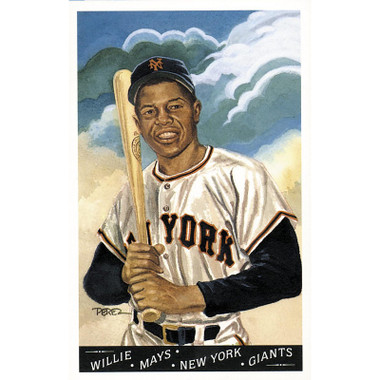 Willie Mays Perez-Steele Masterworks Limited Edition Postcard # 12