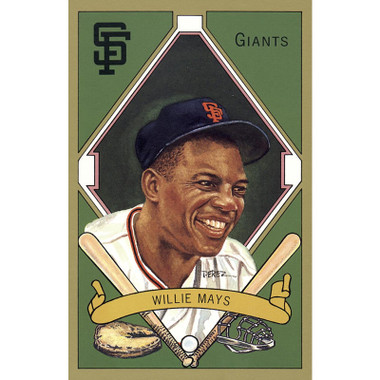 Willie Mays Perez-Steele Masterworks Limited Edition Postcard # 14