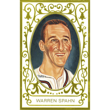 Warren Spahn Perez-Steele Masterworks Limited Edition Postcard # 21