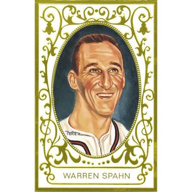 Warren Spahn Perez-Steele Masterworks Limited Edition Postcard # 21