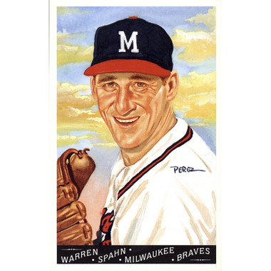 Warren Spahn Perez-Steele Masterworks Limited Edition Postcard # 22