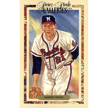 Warren Spahn Perez-Steele Masterworks Limited Edition Postcard # 25