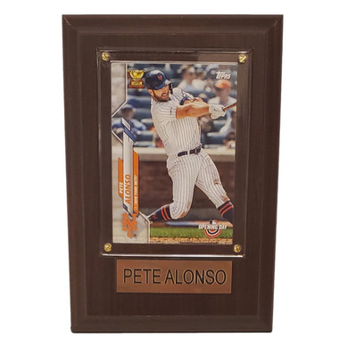 "Pete Alonso New York Mets 4"" x 6"" Baseball Card Plaque"