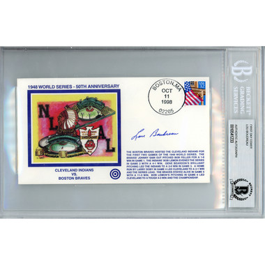 Lou Boudreau Autographed First Day Cover - 1998 1948 World Series 50th Anniversary (Beckett)