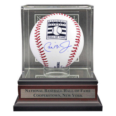 Cal Ripken Jr. Autographed Hall of Fame Logo Baseball with Case (MLB/Fanatics)