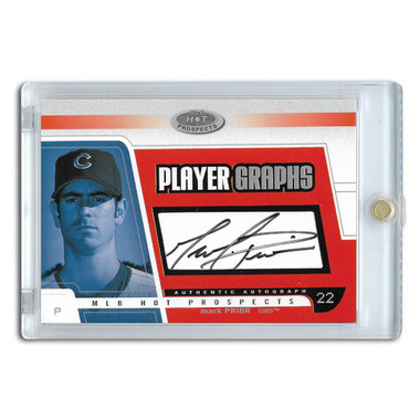 Mark Prior Autographed Card 2003 Fleer Hot Prospects Player Graphs Ltd Ed of 400