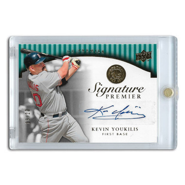 Kevin Youkilis Autographed Card 2008 Upper Deck Premier Signature Ltd Ed of 20