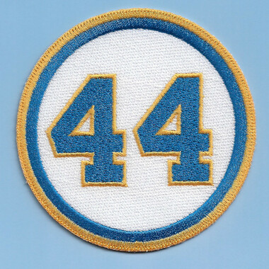 Hank Aaron 44 Milwaukee Brewers Memorial Embroidered Patch