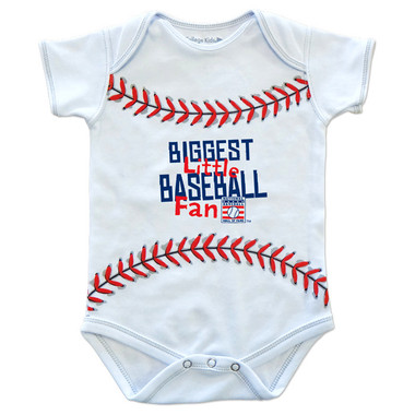 Infant Baseball Hall of Fame Biggest Little Baseball Fan Stitches Onesie