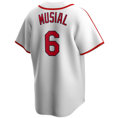 Men's Nike Stan Musial St. Louis Cardinals Cooperstown Collection White Jersey