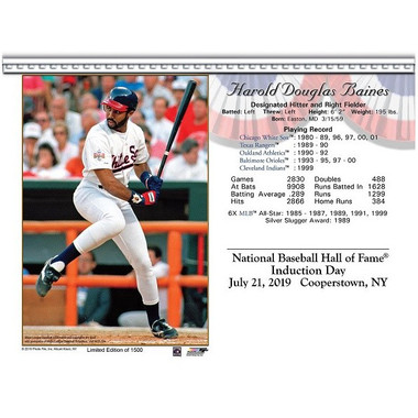 Harold Baines Chicago White Sox 2019 Hall of Fame Induction 8x10 Photocard