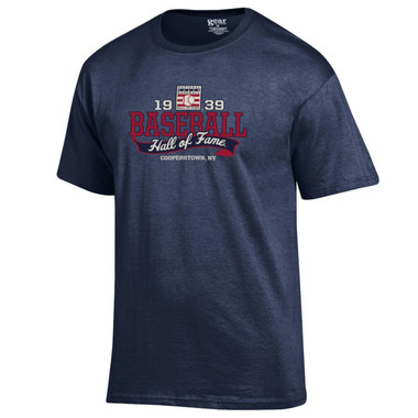 Men's Baseball Hall of Fame Navy 1939 Banner T-Shirt