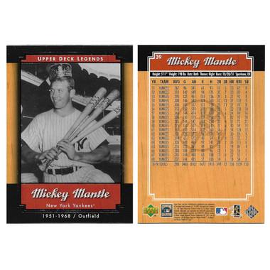 2001 Upper Deck Legends 90 Card Baseball Set