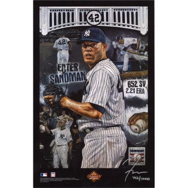Mariano Rivera 2019 Hall of Fame Induction 11 x 17 Limited Edition Lithograph