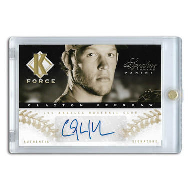Clayton Kershaw Autographed Card 2012 Panini Signature Series K-Force Ltd Ed of 25