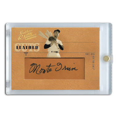 Monte Irvin Autographed Card 2005 Donruss Leather and Lumber Cuts Ltd Ed of 96