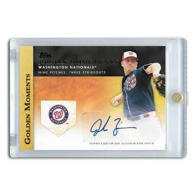 Jordan Zimmerman Autographed Card 2012 Topps Golden Moments # GMA-JZ