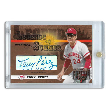 Tony Perez Autographed Card 2003 Donruss Signature Legends of Summer Notations Ltd Ed of 175