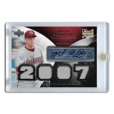 Mark Reynolds Autographed Card 2007 Upper Deck Exquisite Collection Rookie Card Ltd Ed of 199