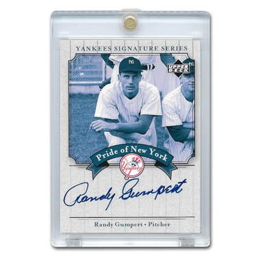 Randy Gumpert Autographed Card 2003 Upper Deck Yankees Signature Series #PN-RG