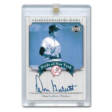 Don Gullett Autographed Card 2003 Upper Deck Yankees Signature Series #PN-DG
