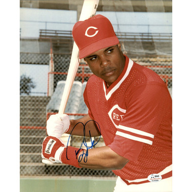 Barry Larkin Autographed 8x10 Photograph (Beckett)