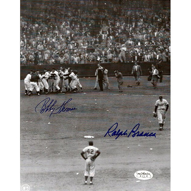 Ralph Branca and Bobby Thomson Autographed 8x10 Photograph (JSA)
